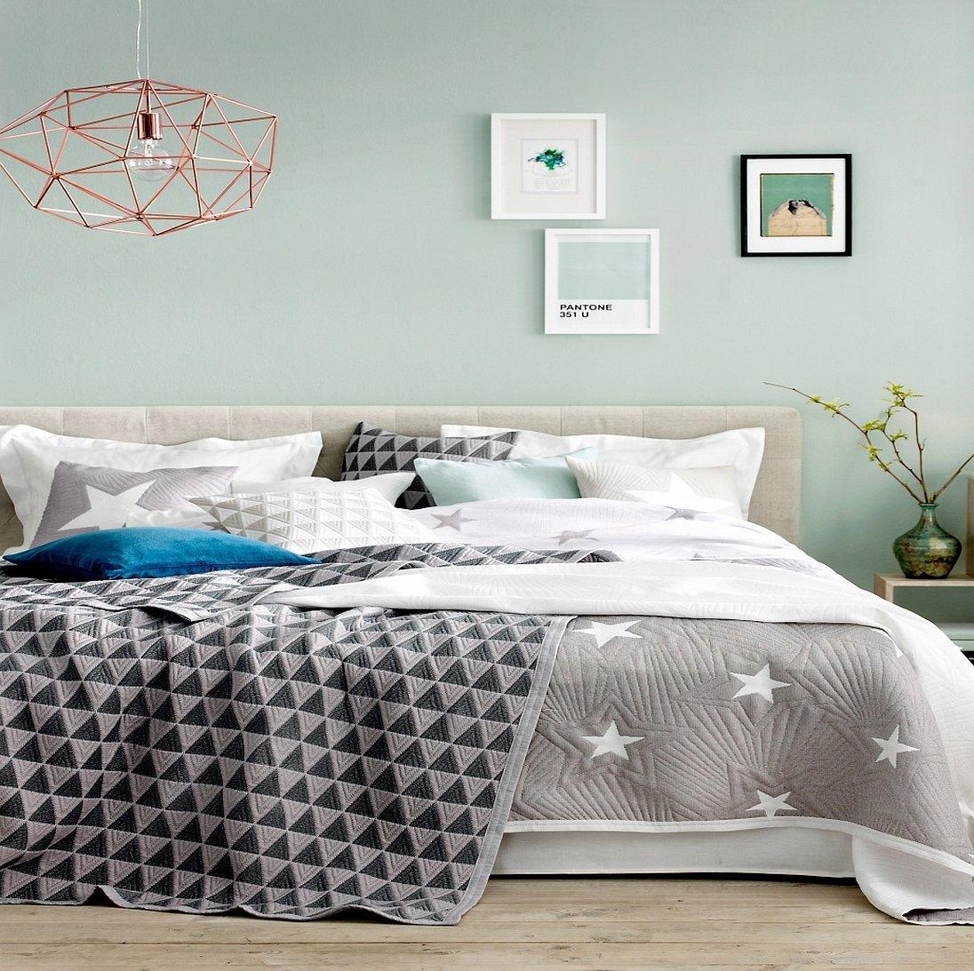 Пледы на кровать в скандинавском стиле