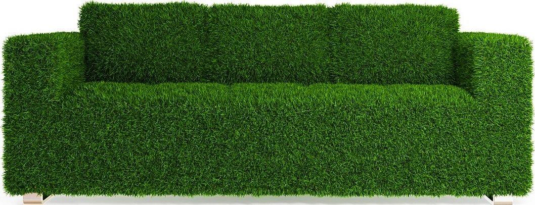 Диван из травы