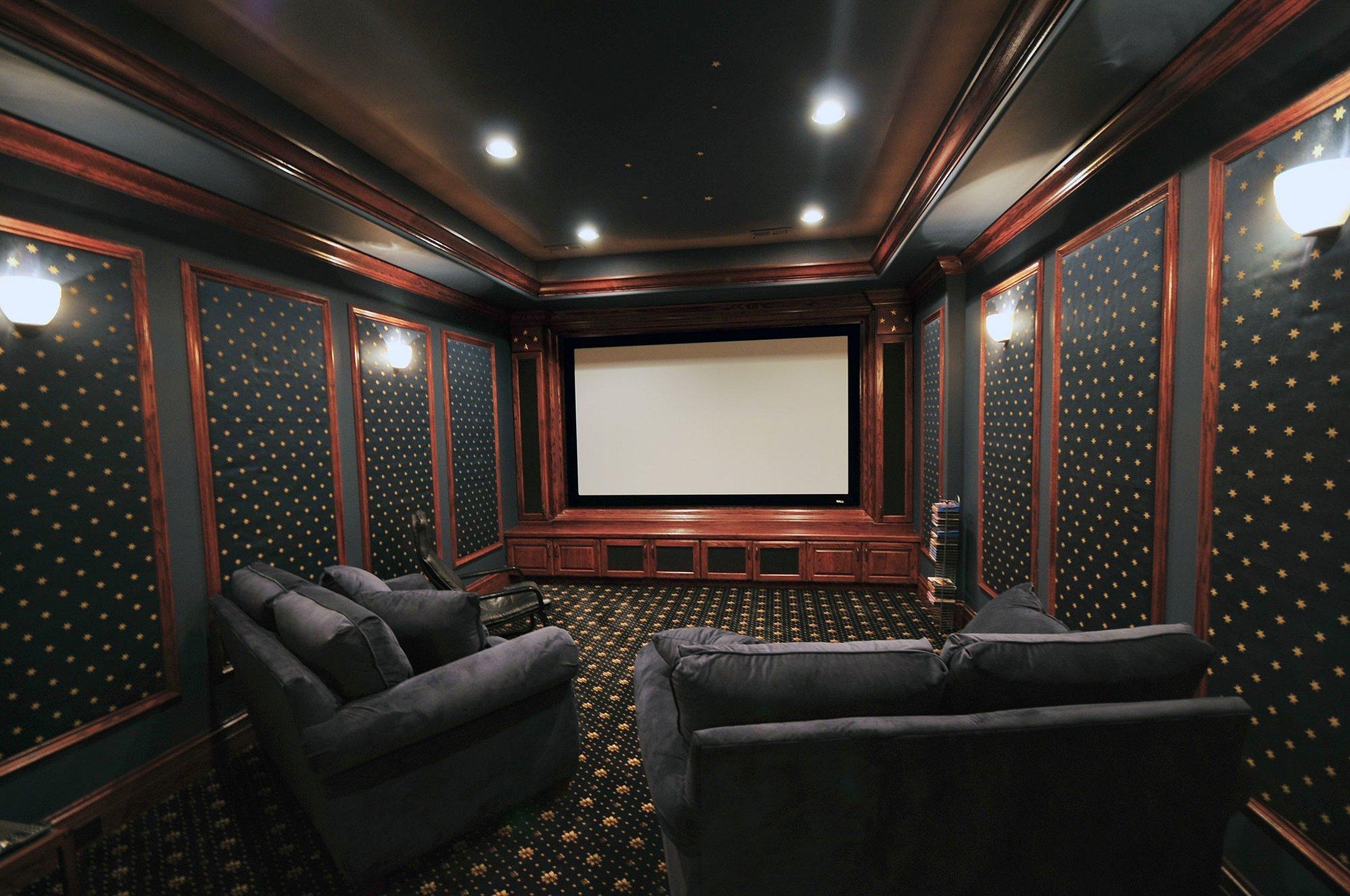 Домашние кинотеатры интерьер классика