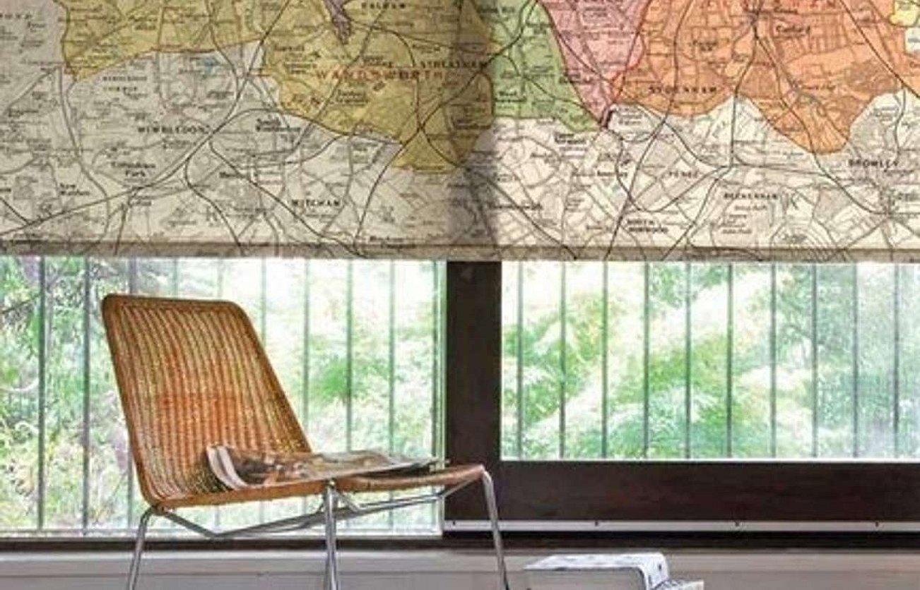 Карта в интерьере