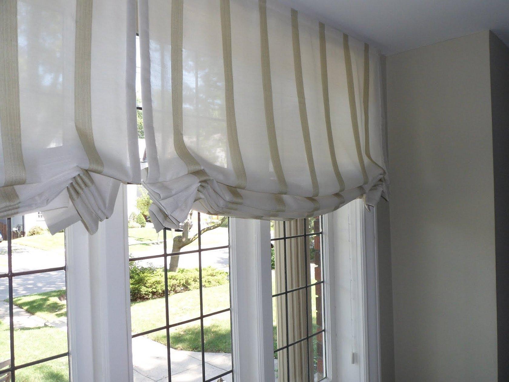 Австрийская штора на узкое окно