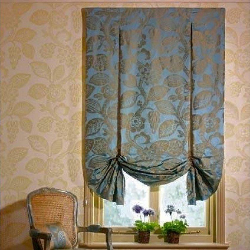 Английские шторы с портьерами