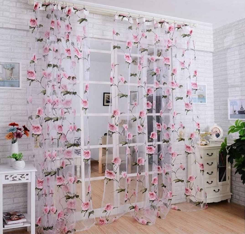 Тюль вуаль цветы в интерьере
