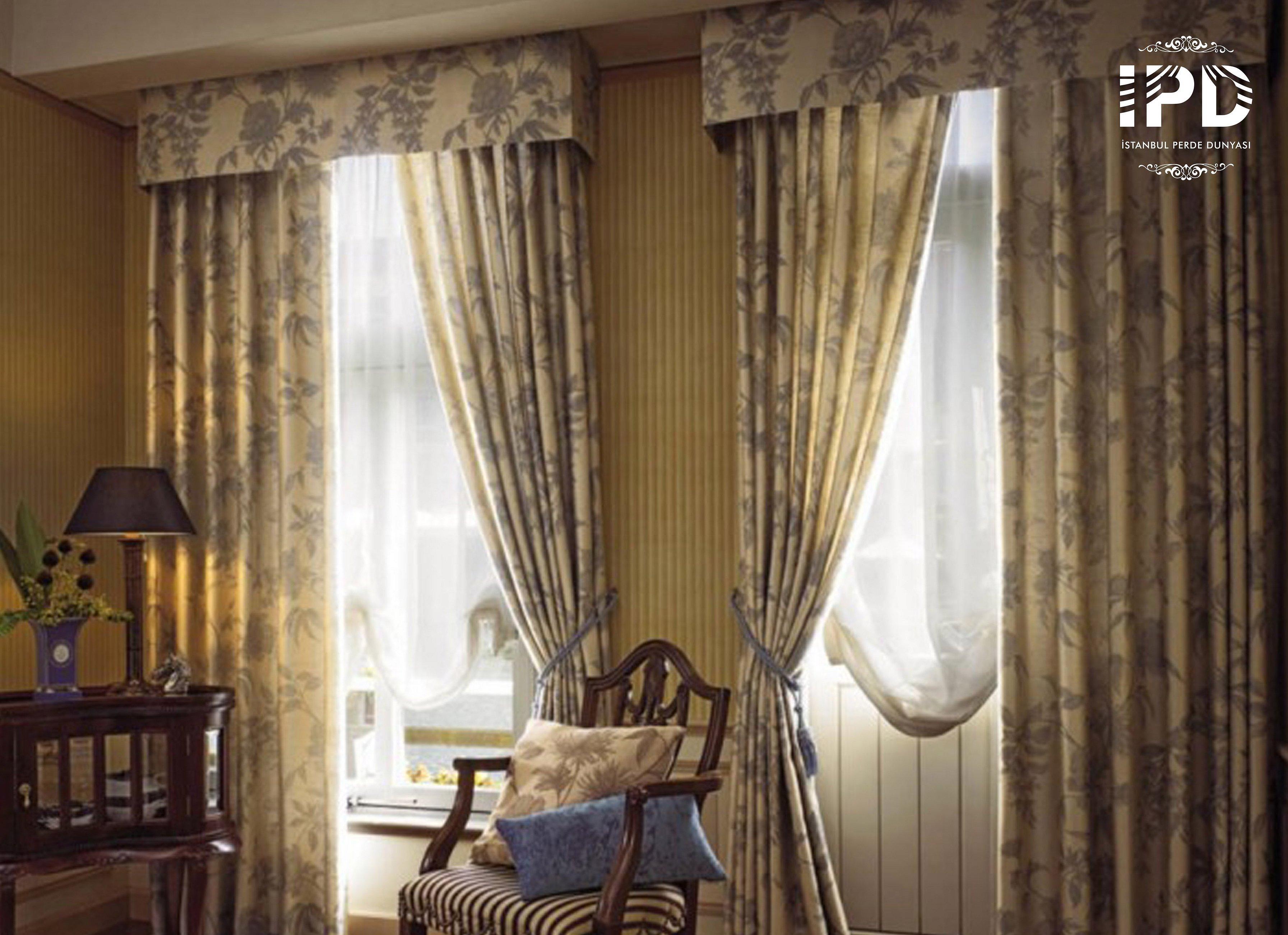 Портьеры для гостиной в классическом стиле