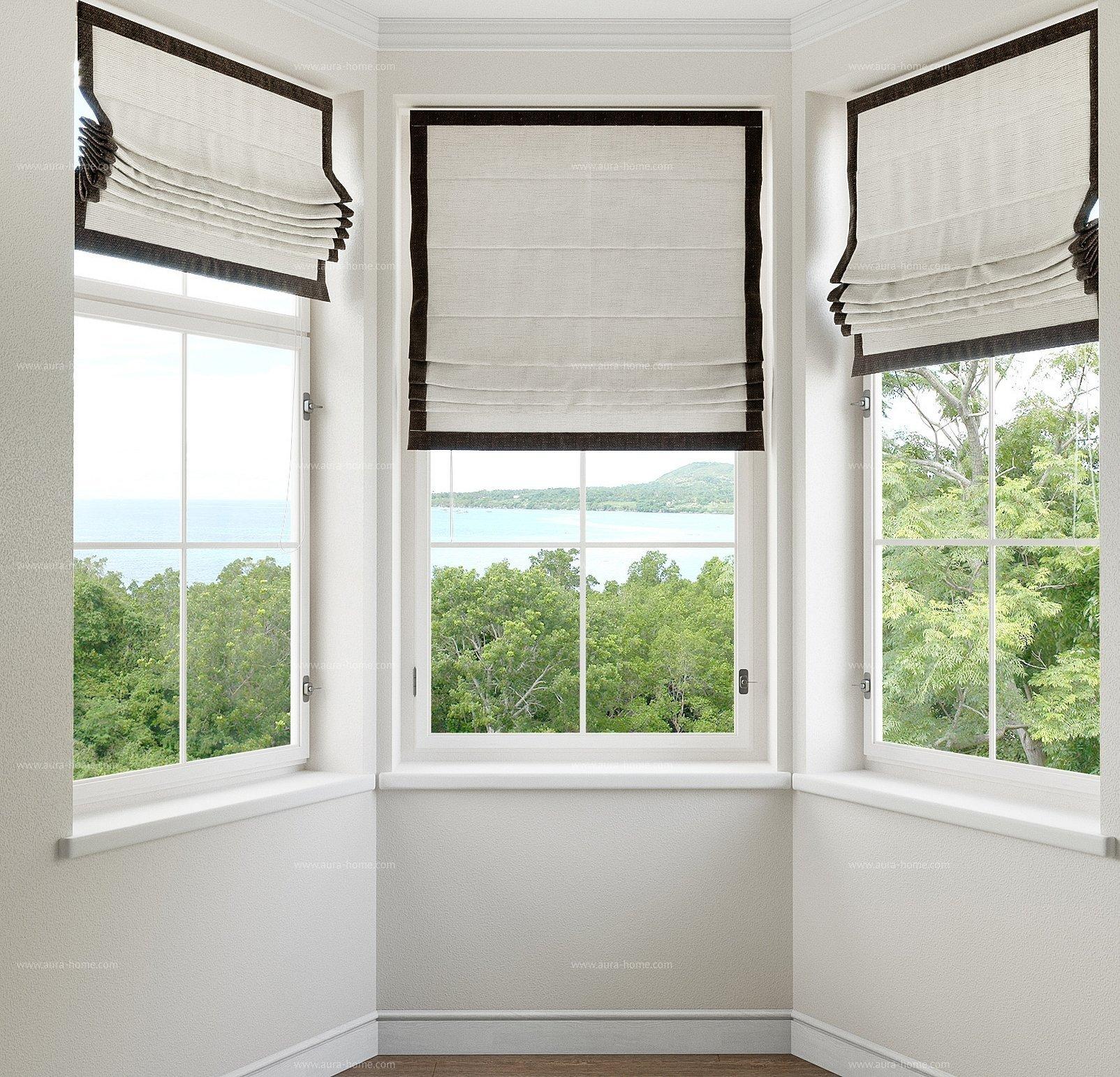 Римские шторы с кантом на окно