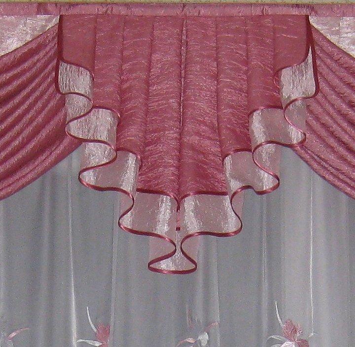 Классические шторы с кокилье
