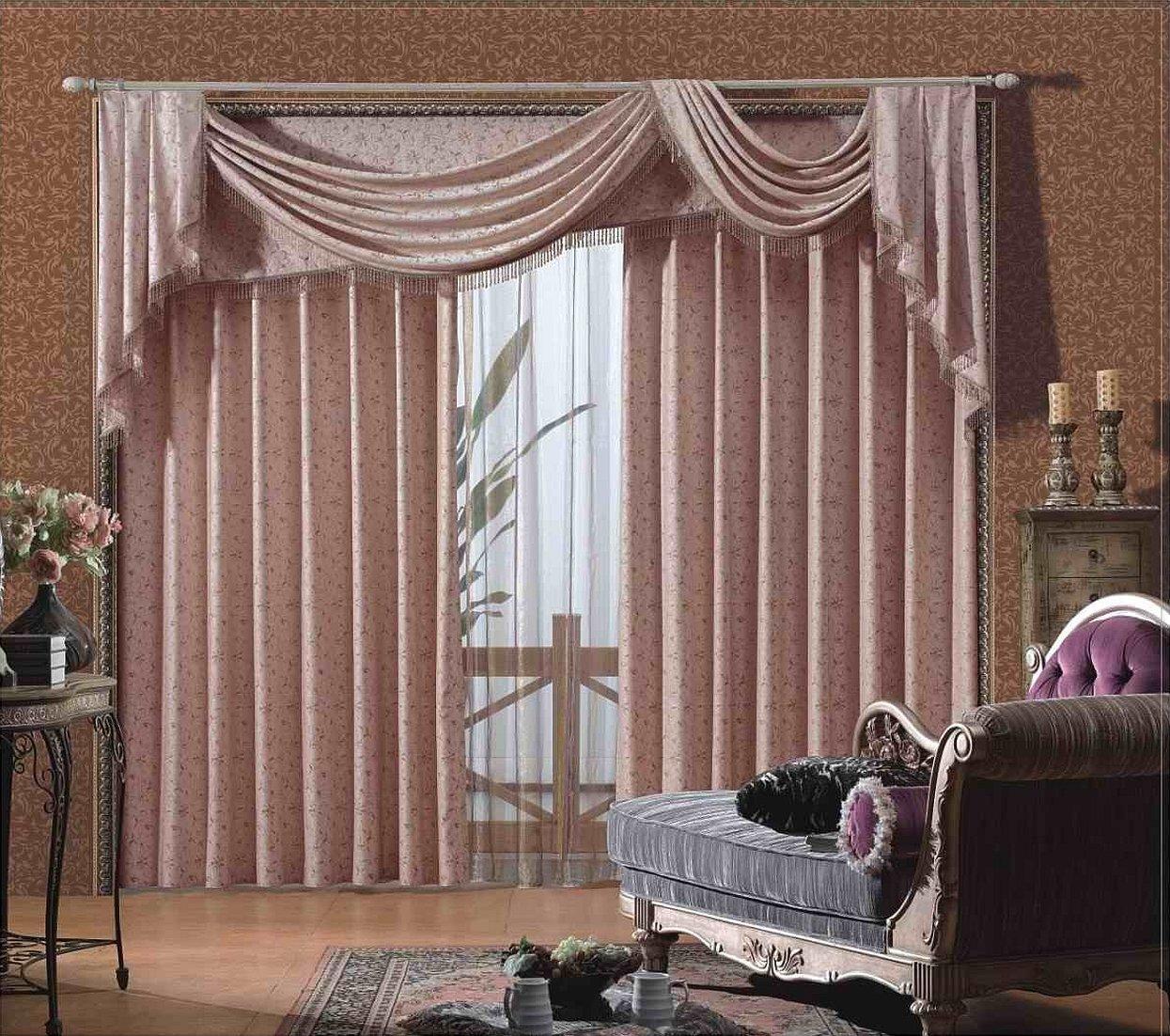 Занавески в зал в классическом стиле