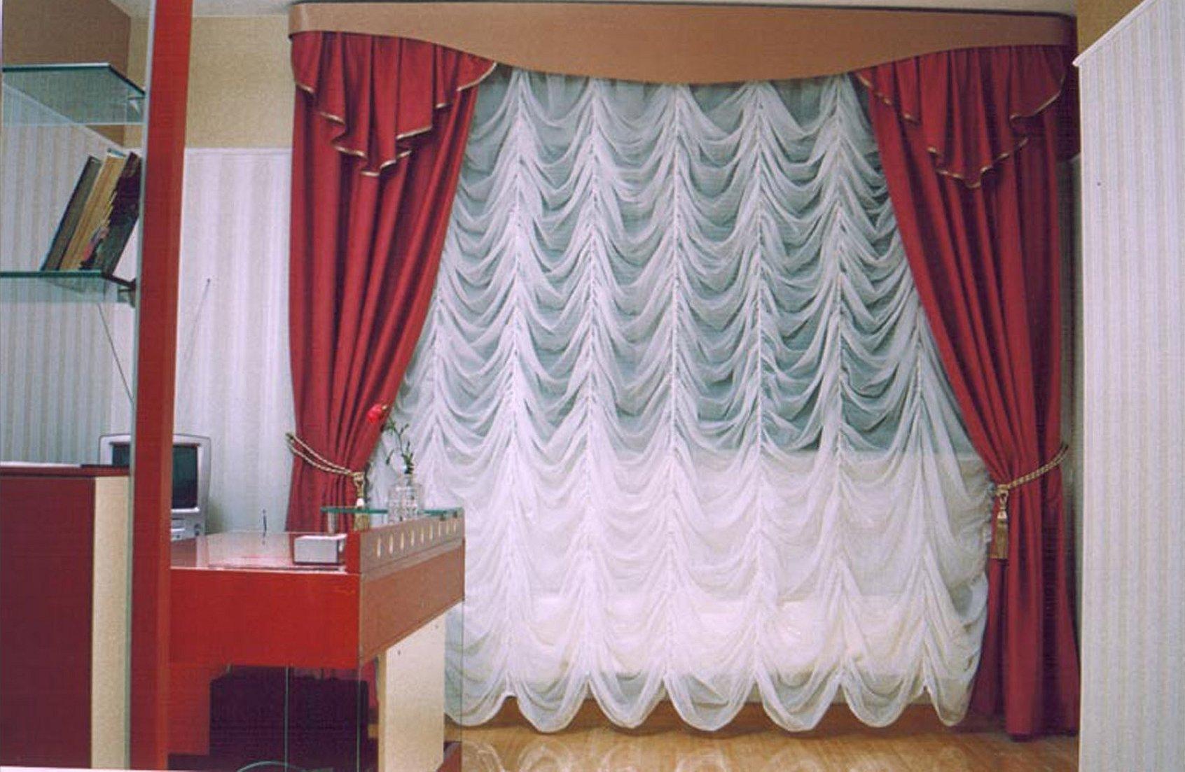 Эскиз французская штора с ламбрекеном