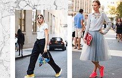 4 модных образов с кроссовками для любого повода