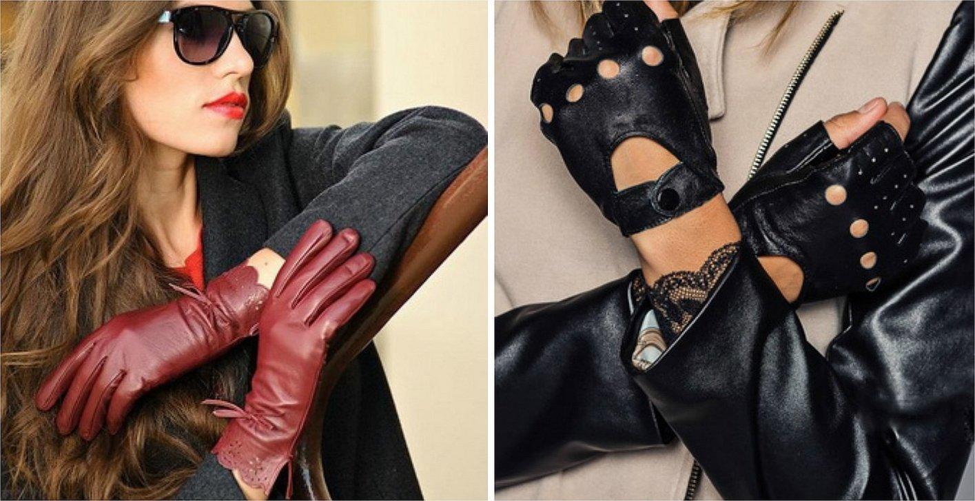 Стильные кожаные перчатки для женщин
