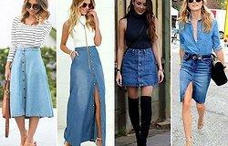 Джинсовая юбка: тренд и основа гардероба летнего сезона, модные фасоны и правила сочетания