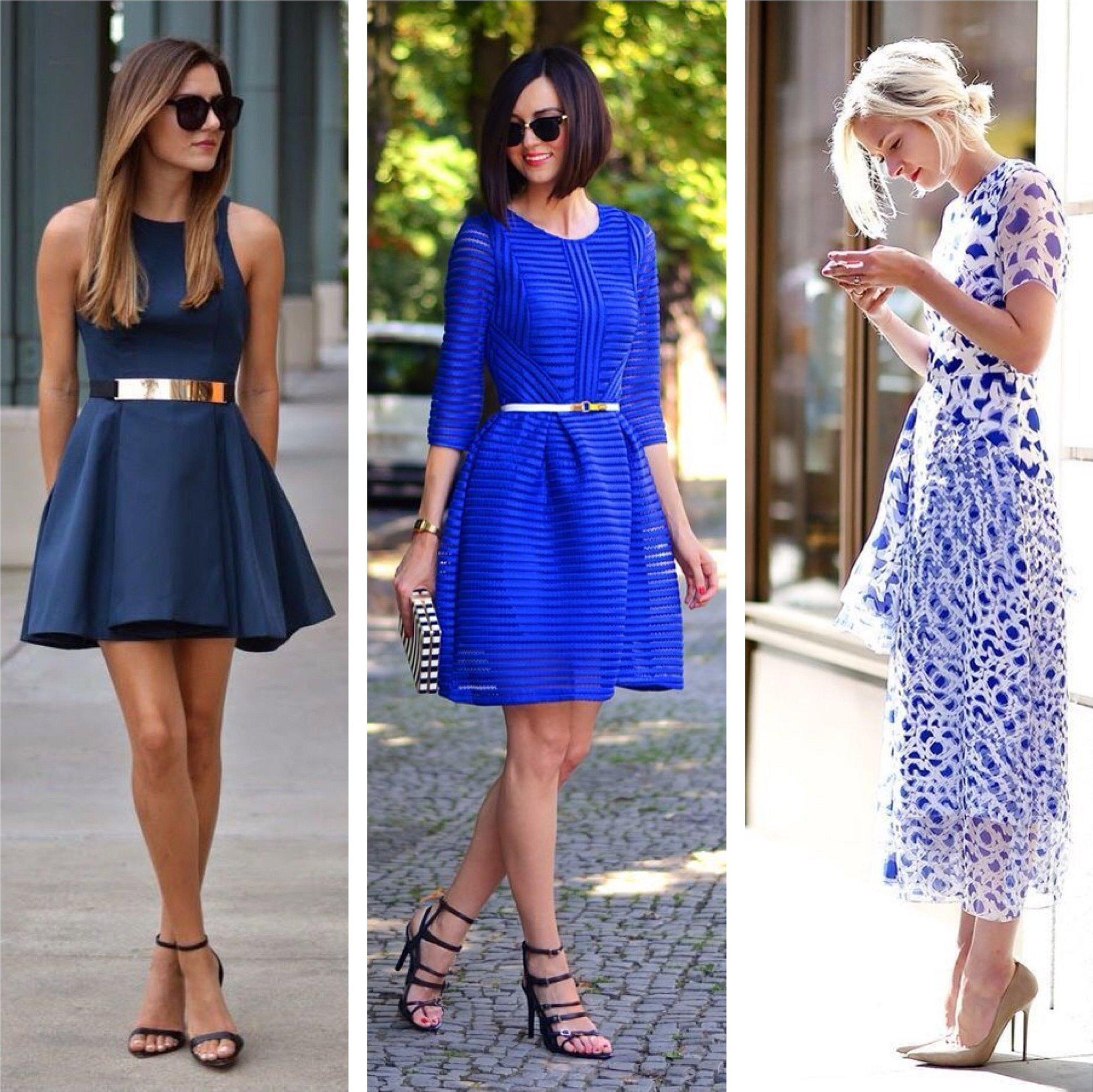 Туфли к темно синему платью