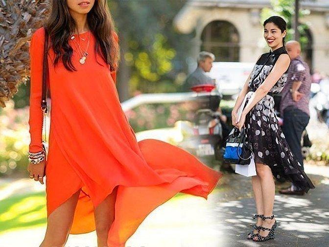 Оранжевые летние платья с шифоном