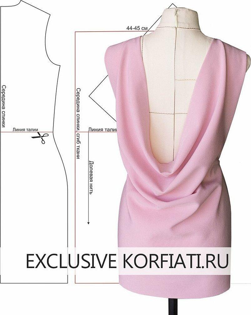Платья с драпировкой корфиати лекала
