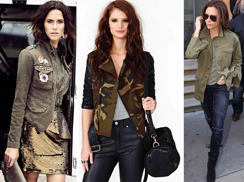Стиль милитари в одежде для женщин