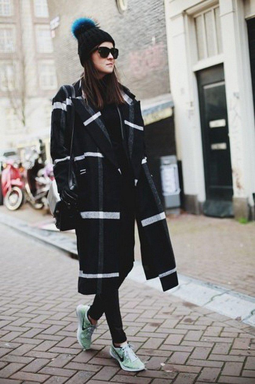 Шанель пальто стрит стайл