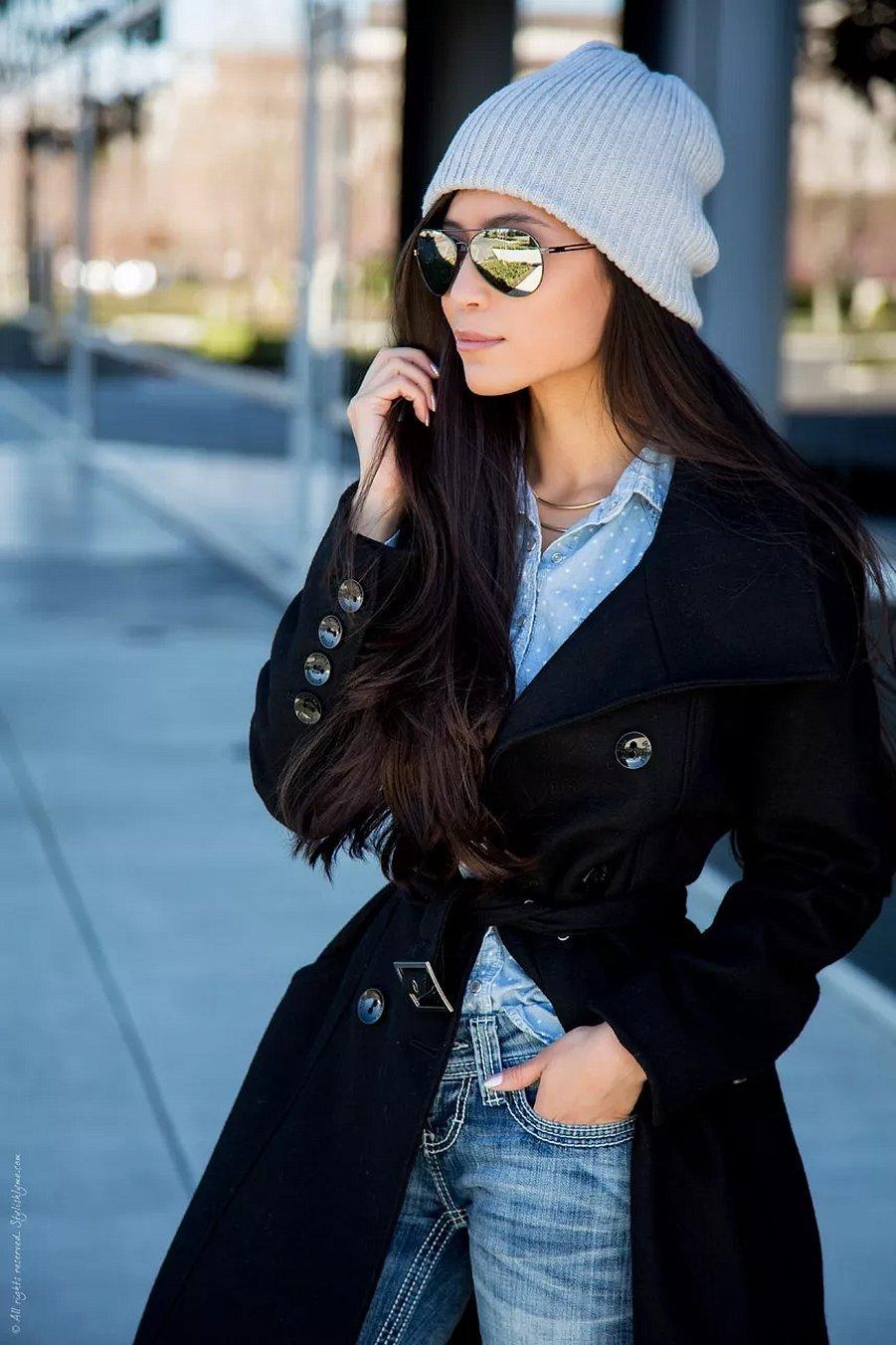 Шапки весенние с классической курткой