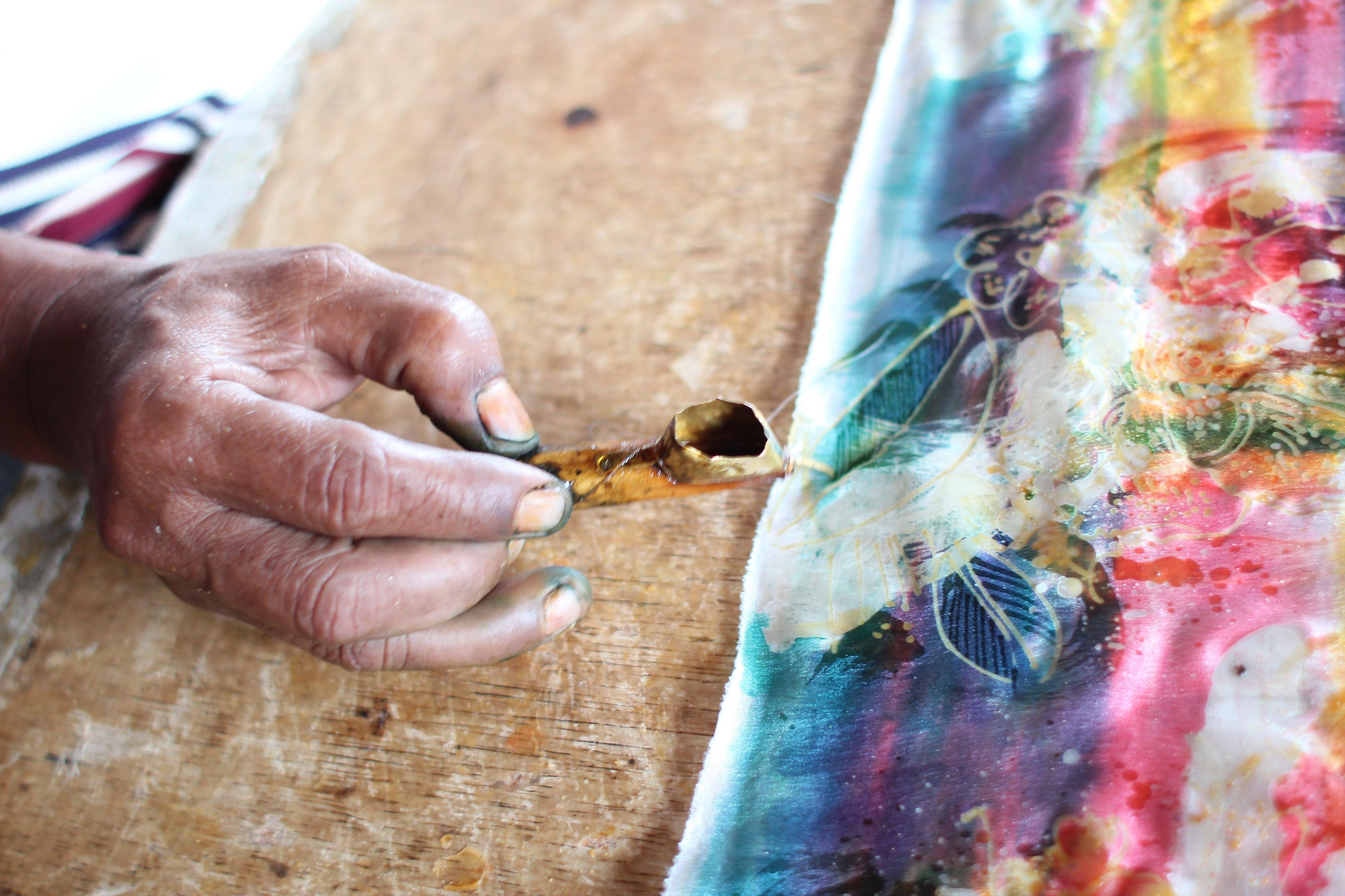 Роспись батика в древности