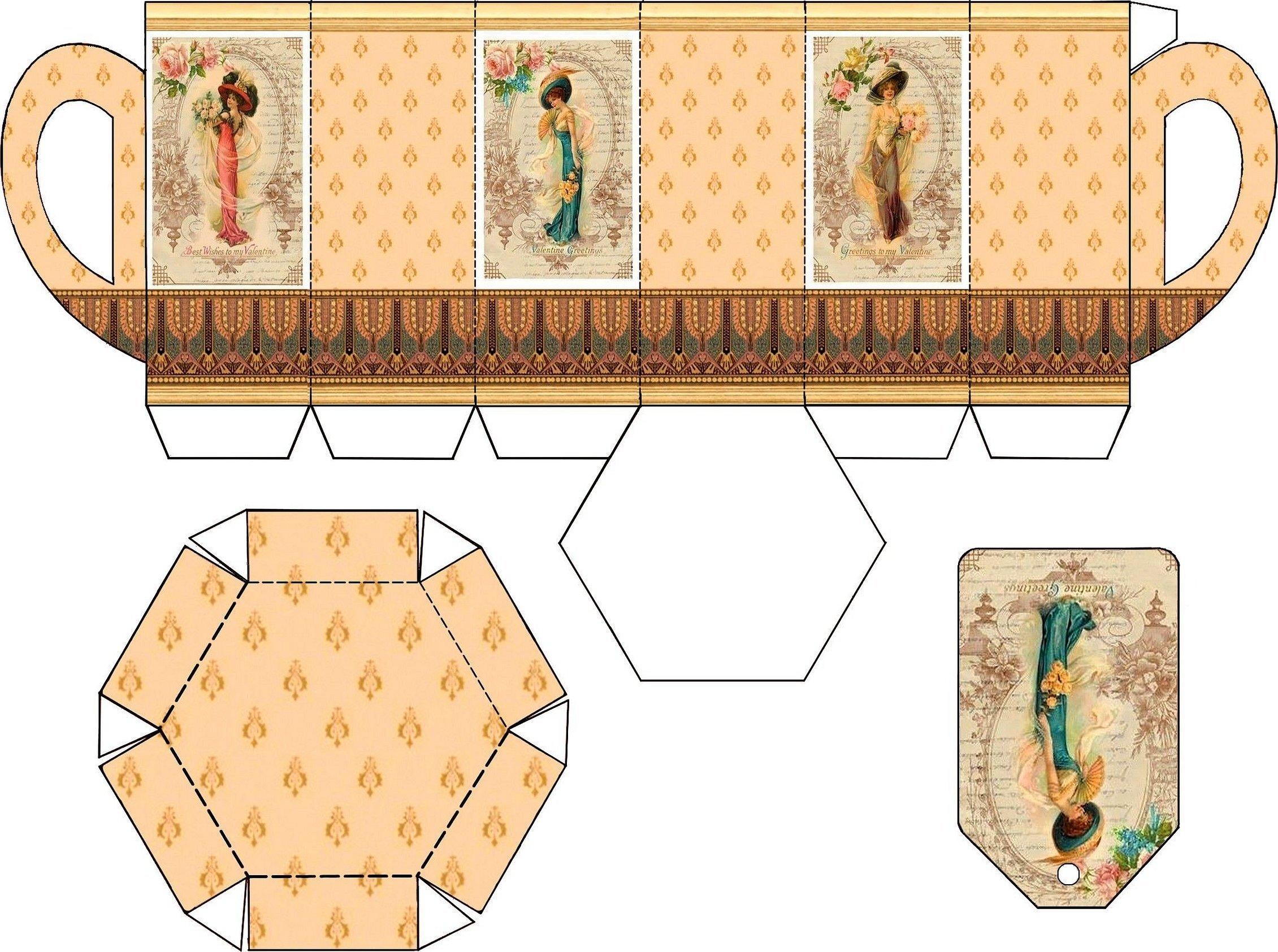 Шаблоны мебели для кукольного домика из бумаги