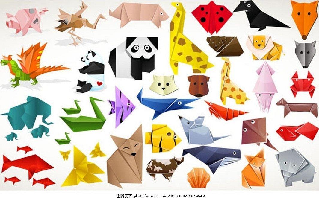 Животные из бумаги оригами