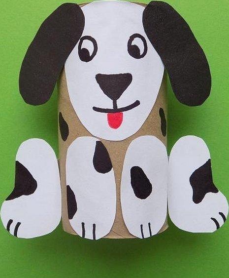Поделки из бумаги и картона собачка