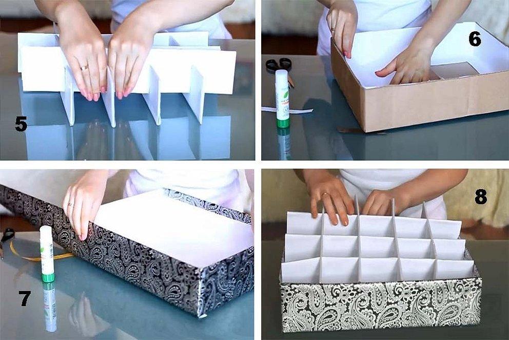 Делаем коробки для хранения вещей своими руками