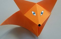Как сделать лису из бумаги для ребенка: объёмные поделки своими руками