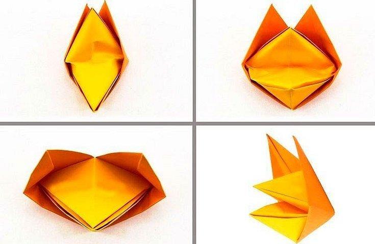 Сделать из бумаги оригами