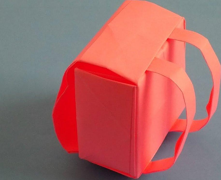 Оригами из бумаги рюкзак для кукол