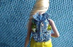 Как сделать рюкзак для кукол из бумаги, картона, ткани своими руками