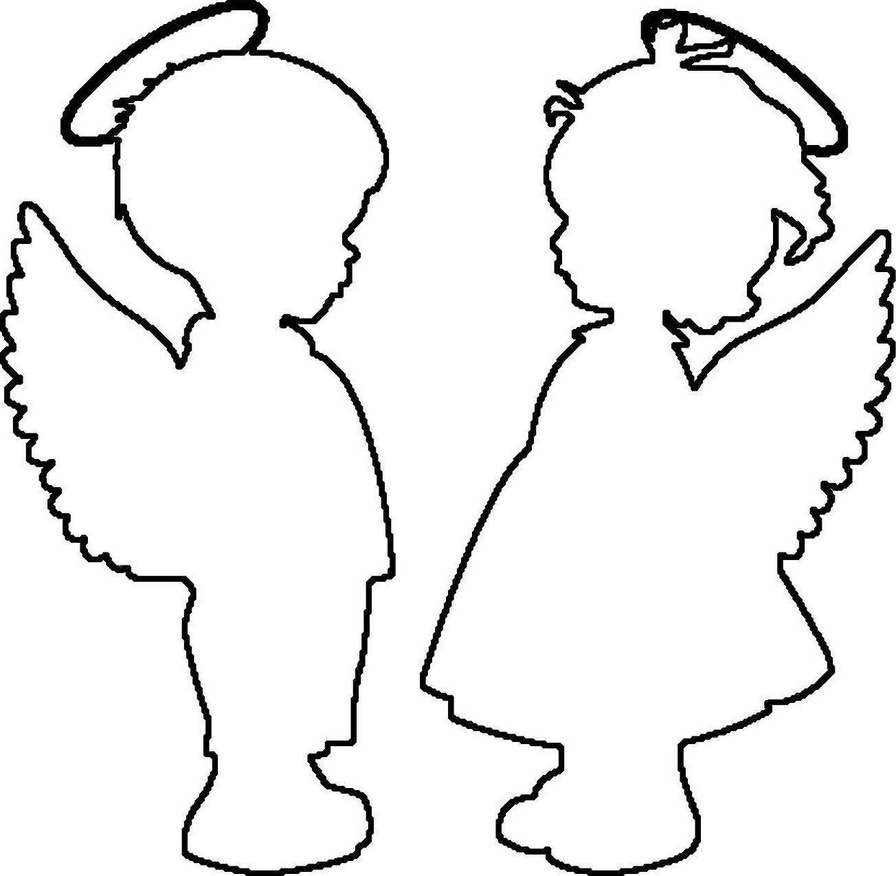 Ангелочки из бумаги шаблоны для вырезания