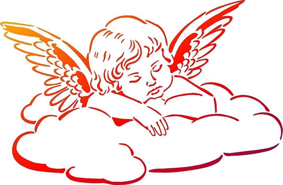 Эскизы тату ангелочки детки с крыльями