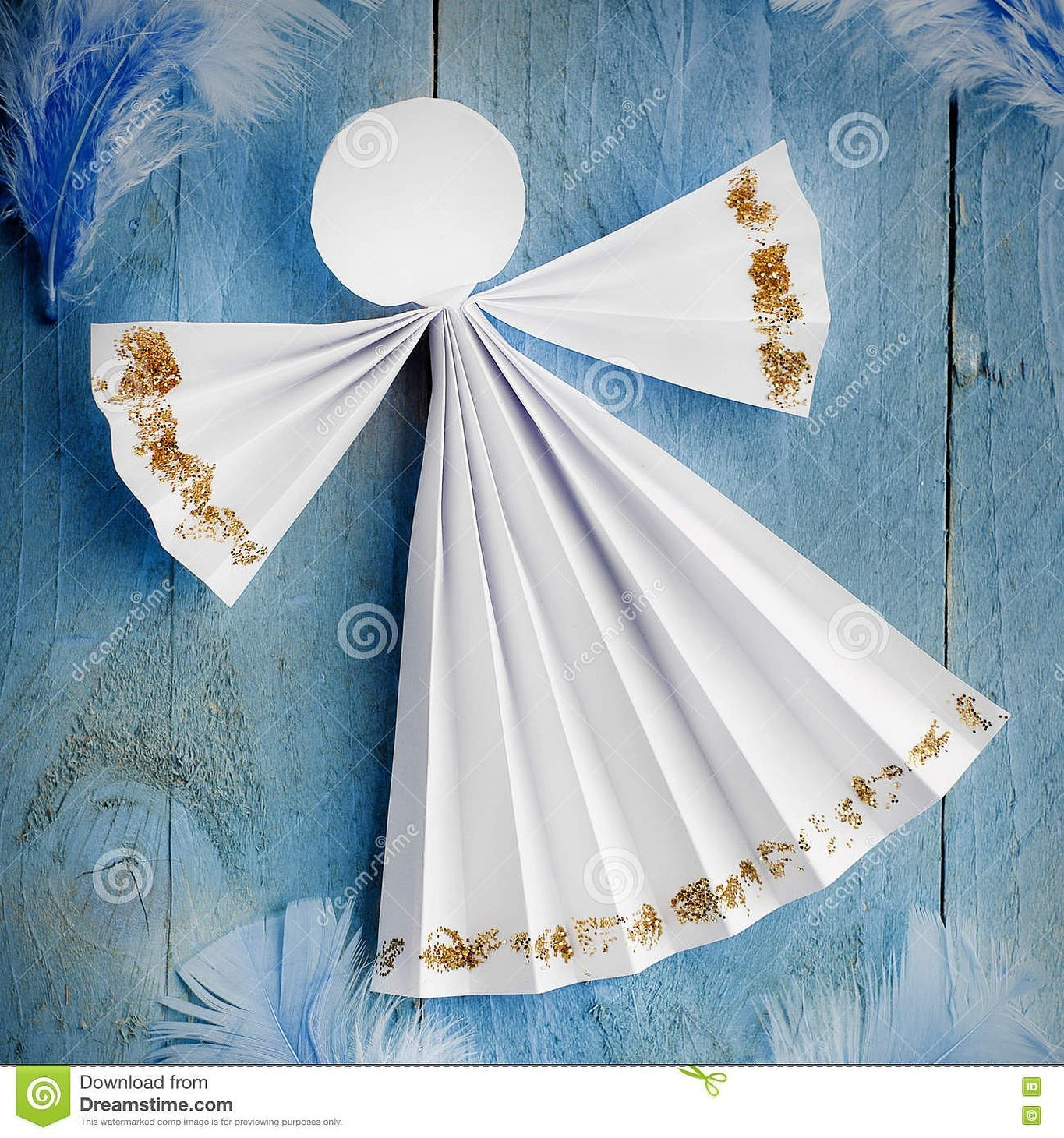 Поделка ангел из бумаги гармошкой