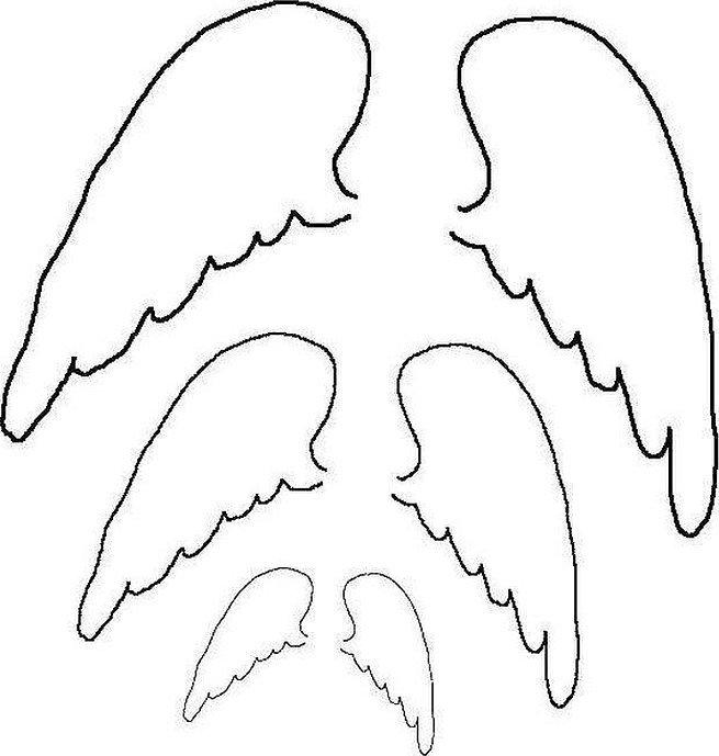 Шаблон крылья ангела из бумаги шаблоны для вырезания