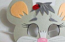 Маска мышки для ребенка на голову из бумаги, картона: как сделать своими руками