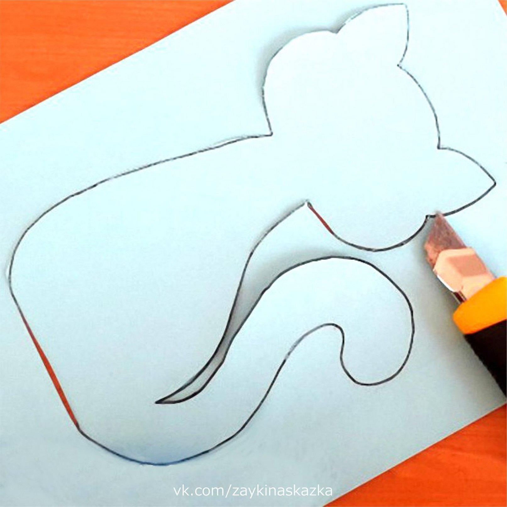 Технология вырезания рисования контуром