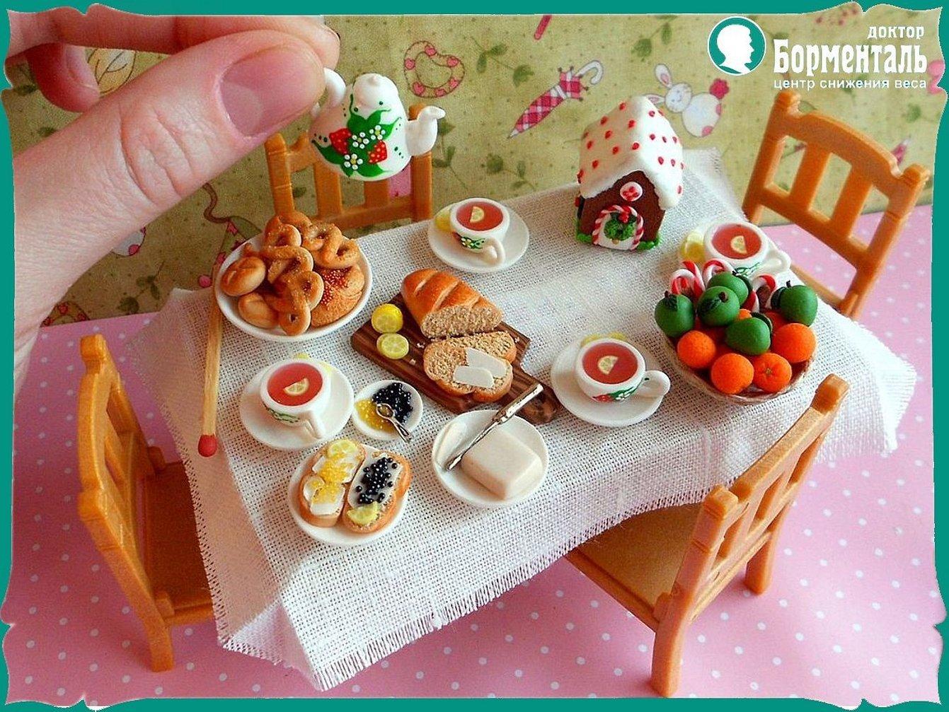 Еда для кукол из полимерной глины