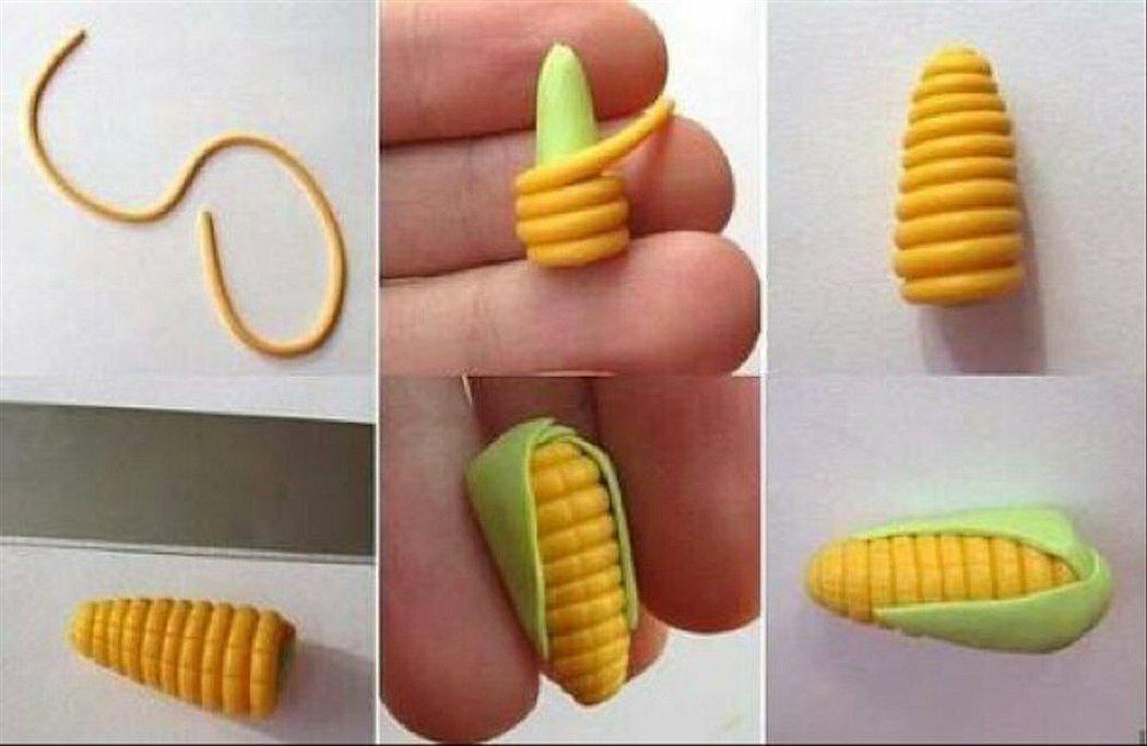 Кукуруза из пластилина пошагово