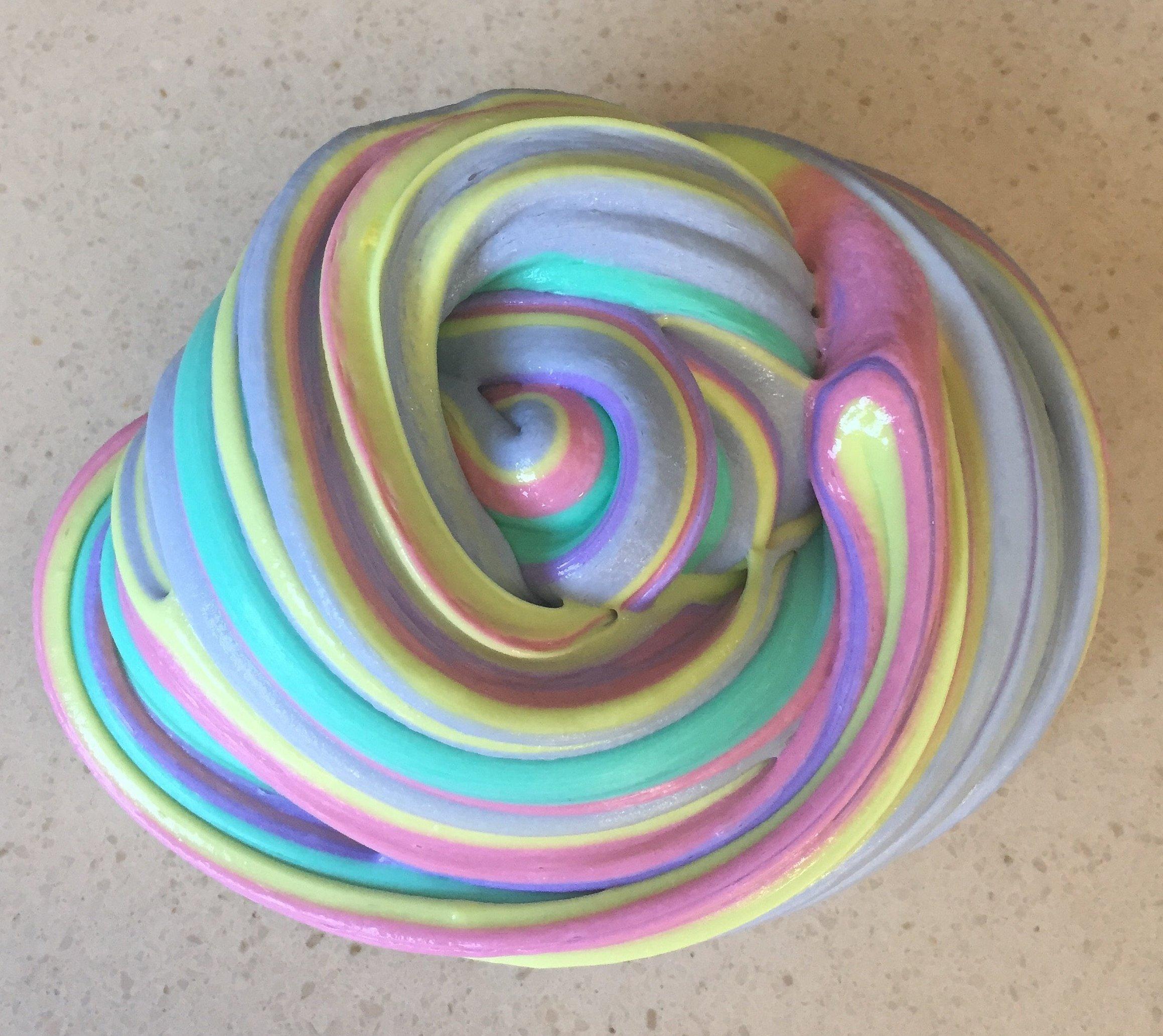 Слайм флаффи разноцветный