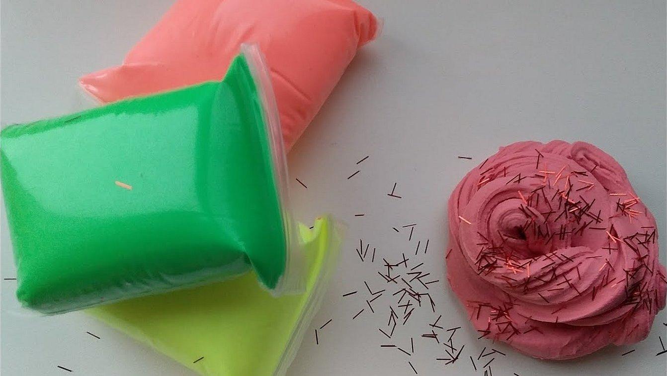 Слайм из воздушного пластилина