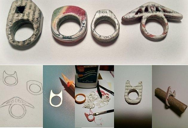 Самодельные кольца из бумаги
