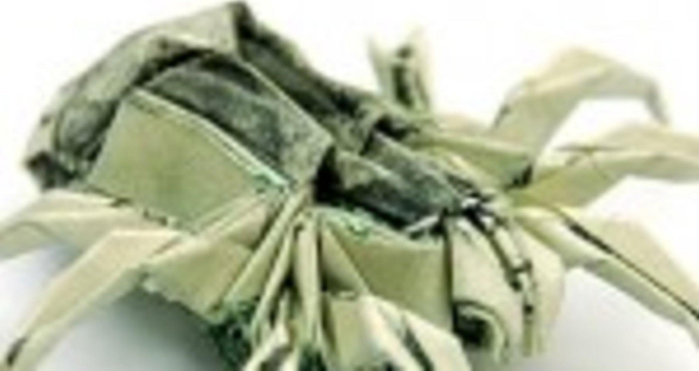 Оригами из бумаги паук тарантул