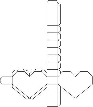 Объемное сердечко коробочка из бумаги