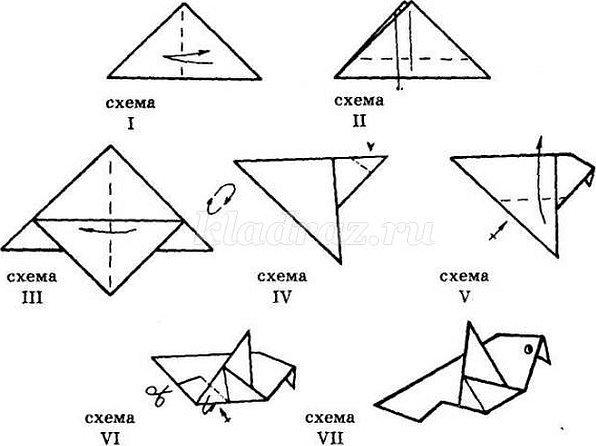 Оригами звезда из бумаги объемная схема