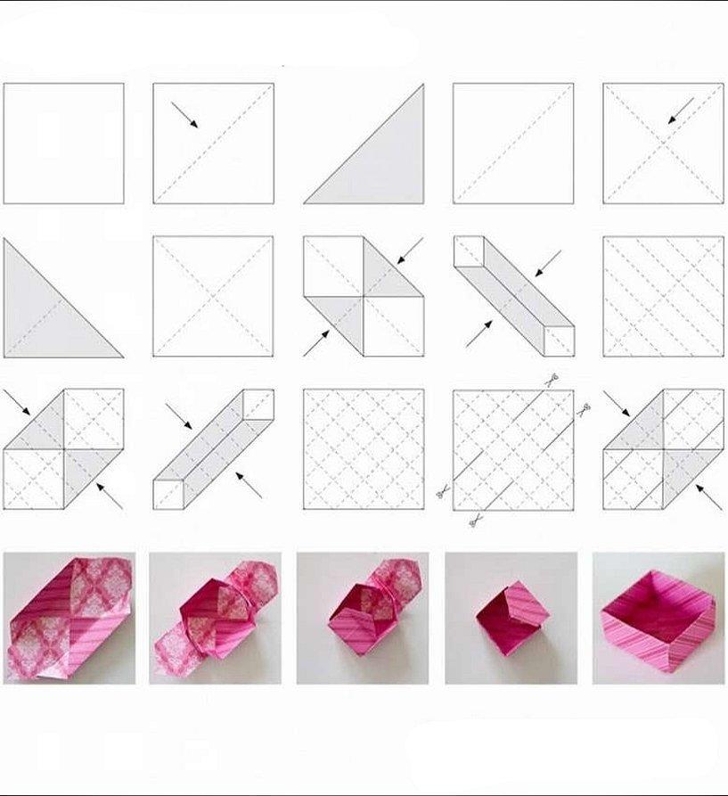Оригами из бумаги схемы коробочка