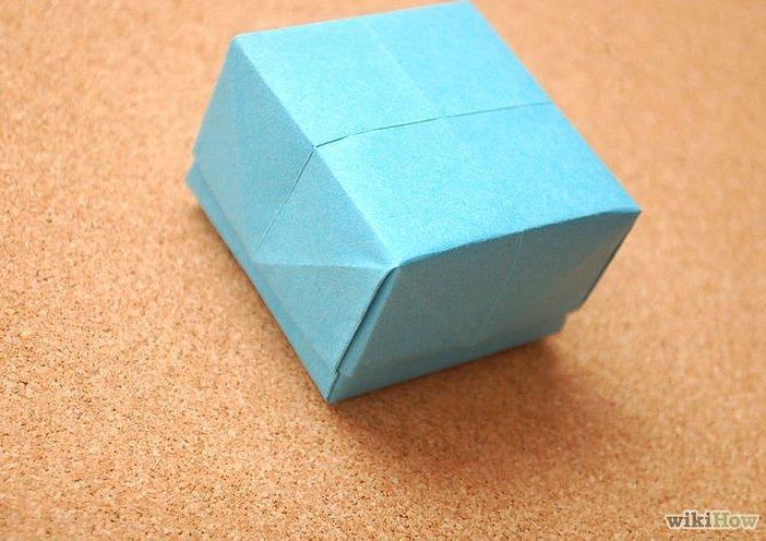 Закрытая коробочка оригами