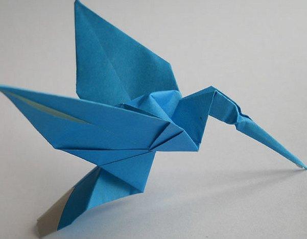 Оригами вертолет из бумаги