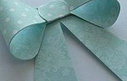 Как сделать красивый бантик из бумаги?