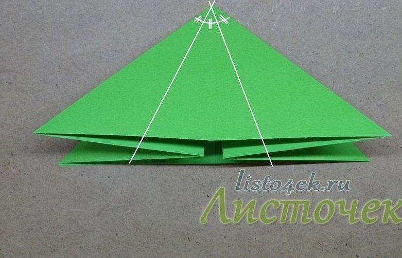 Лягушка из бумаги треугольниками модули