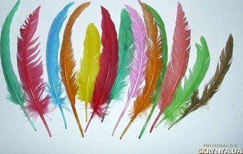 Разноцветные искусственные перья